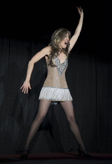 Celine Dion Impersonator Tracey Bell performing at a corporate event