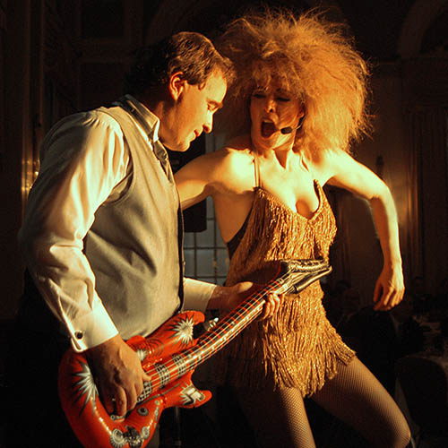 Tina Turner Impersonator Tracey Bell performing at a corporate event