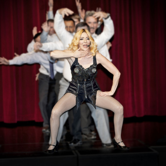 Madonna Impersonator Tracey Bell performing at a corporate event