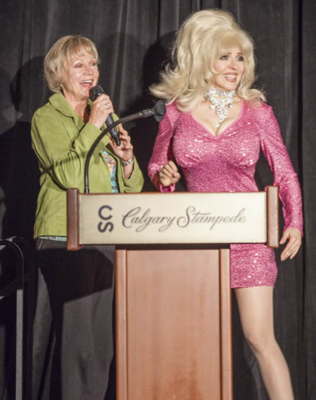 Dolly Parton Impersonator Tracey Bell with Karen Eluck of KEP Events Limited