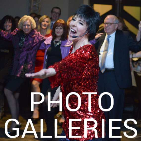 Liza Minnelli Impersonator Tracey Bell performing at a corporate event