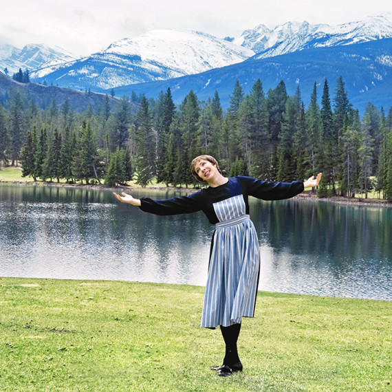 Julie Andrews Impersonator Tracey Bell at the Jasper Park Lodge