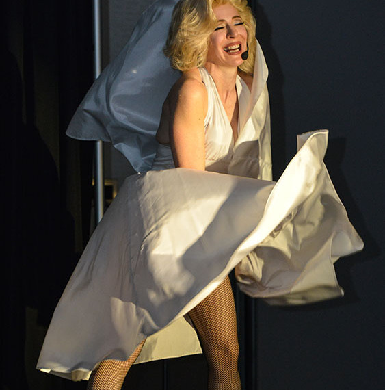 Marilyn Monroe Impersonator Tracey Bell performing at a corporate event