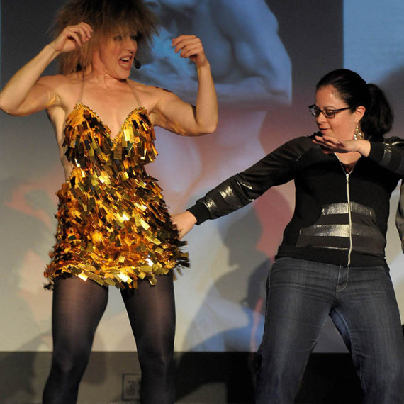 Tina Turner Impersonator Tracey Bell with Tanya Paz