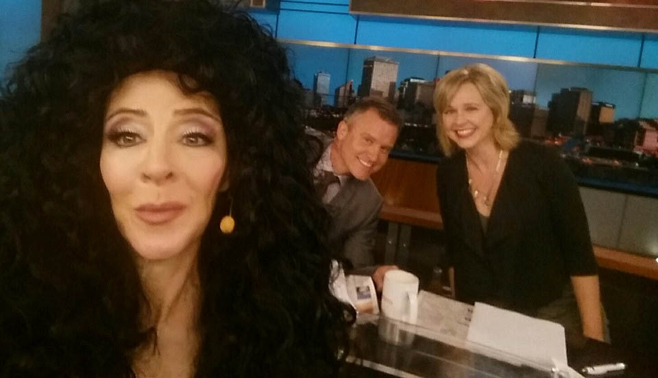 Celebrity Impersonator Tracey Bell on CTV Morning Live Edmonton with Rob Williams and Stacey Brotzel